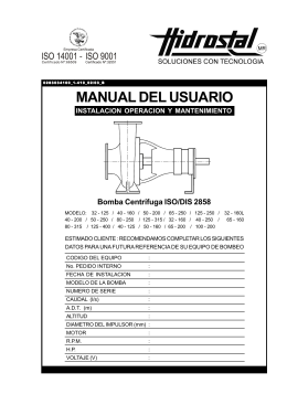 manual de bomba centrifuga hidrostal