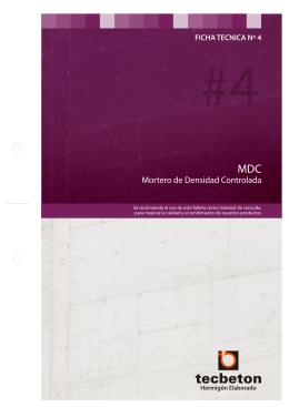 Fichas técnicas para PDF