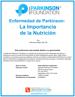 La Importancia de la Nutrición - National Parkinson Foundation