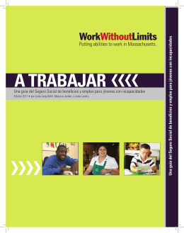 a trabajar - Institute for Community Inclusion