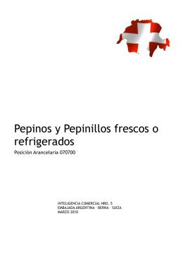 Pepinos y Pepinillos frescos o refrigerados