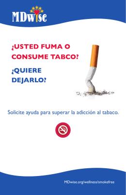 folleto para dejar el tabaco