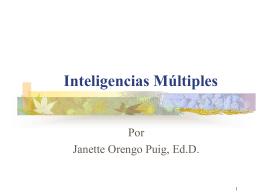 Seminario Teoría de Inteligencias Múltiples