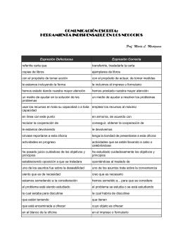 comunicación escrita: herramienta indispensable en los negocios