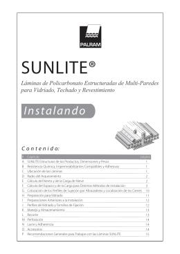 SUNLITE® Guia de Instalación - Solarq: Soluciones Arquitectónicas