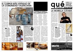 el corpus más antiguo de la comunidad valenciana la morella cátara