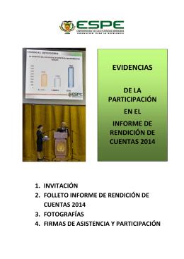 Carátula Evidencias 2014 - UDI – Unidad de Planificación y