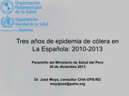 Epidemia de cólera República Dominicana 2010-2013