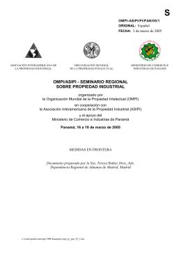 OMPI-ASIPI/PI/PAN/05/1 : Medidas en Frontera