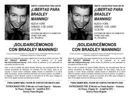 ¡SOLIDARICÉMONOS CON BRADLEY MANNING