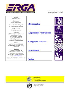 Abril 2007 - Instituto Nacional de Seguridad e Higiene en el Trabajo