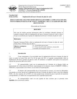 Organización de Aviación Civil Internacional SAM/IG/7-NE