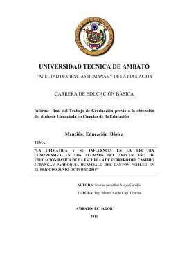 Educación Básica - Repositorio Universidad Técnica de Ambato