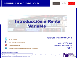 Introducción a Renta Variable