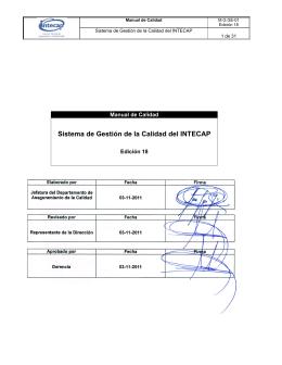 Manual de Calidad M.G.GE-01 - Edición 18