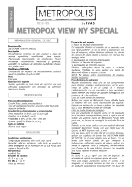 Ficha técnica METROPOX VIEW NY SPECIAL