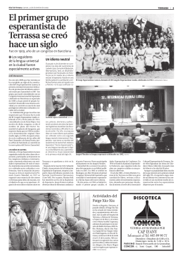 El primer grupo esperantista de Terrassa se creó hace un siglo