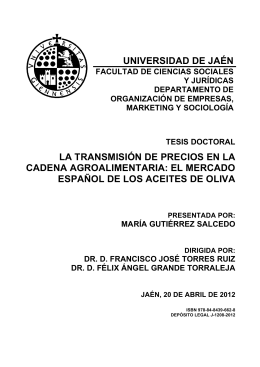 UNIVERSIDAD DE JAÉN LA TRANSMISIÓN DE PRECIOS