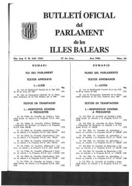 27 de juny de 1986Núm. 68 I legislatura