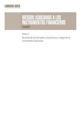 riesgos asociados a los instrumentos financieros