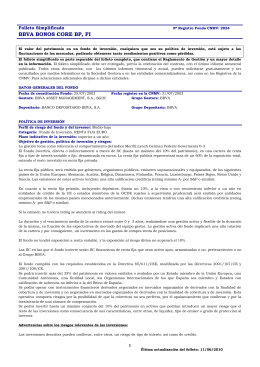 BBVA BONOS CORE BP, FI - BBVA Asset Management