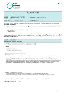 Trimestre 03/2015 - GVC Gaesco Gestión