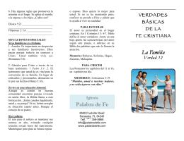 12-La Familia Rev - Iglesia Palabra de Fe