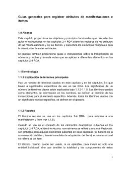 Guías generales para registrar atributos de manifestaciones e ítemes
