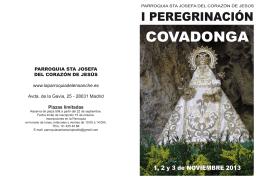 Descargar folleto informativo. - Parroquia de Santa María Josefa del