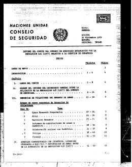 Distr. GENERAL S/13721 31 diciembre 1979 ESPAÑOL ORIGINAL