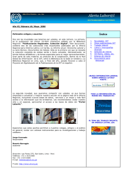 Alerta Laboral, mayo 2006
