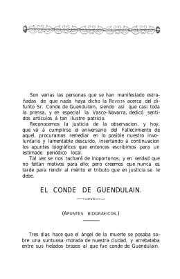 EL CONDE DE GUENDULAIN (BIOGRAFÍA)