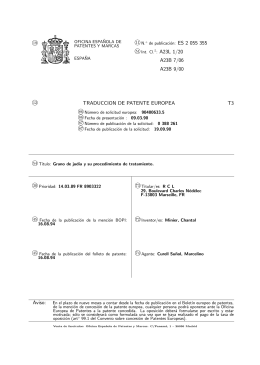 SEMILLAS DE JUDIAS Y SU PROCEDIMIENTO DE TRATAMIENTO