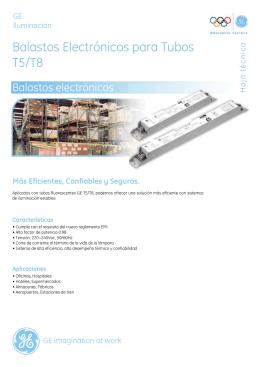 Balastos Electrónicos para Tubos T5/T8