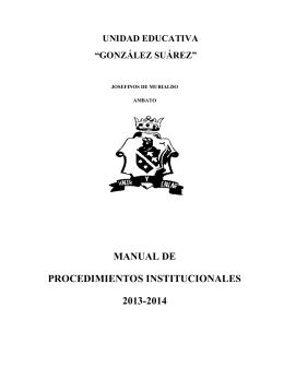 MANUAL DE PROCEDIMIENTOS UEGS 2013 (1)