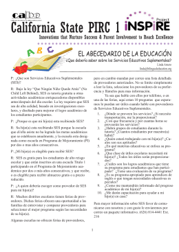 PIRC Newsletter (Spanish).indd