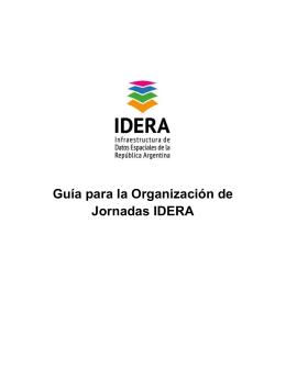 Guía para la Organización de Jornadas IDERA