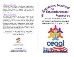 consejo de educación popular de américa latina y el caribe