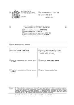 DETECTOR DE FORMA DE PROTESIS DE PIERNA.(ES2022354)
