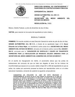 México, Distrito Federal, a quince de mayo del dos mil ocho