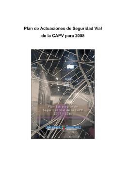 Plan de Actuaciones PE Seguridad Vial 2008