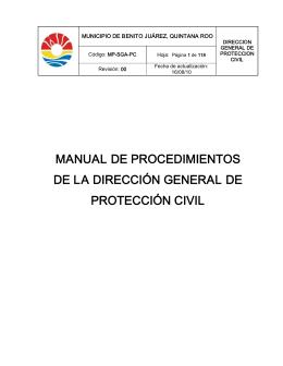 manual de procedimientos de la dirección general de protección civil