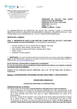 Destino: COORDINADORA PROGRAMA ADUANA AREA NIÑEZ Y