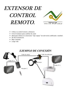 EXTENSOR DE CONTROL REMOTO.