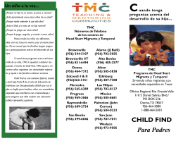 CHILD FIND Para Padres