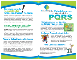Plegable Informativo PQRS