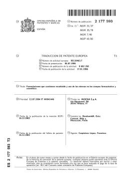 formulaciones que contienen esculosido y uso de las mismas en los