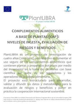 COMPLEMENTOS ALIMENTICIOS A BASE DE PLANTAS (CAP
