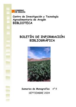 BIBLIOTECA BOLETÍN DE INFORMACIÓN BIBLIOGRÁFICA