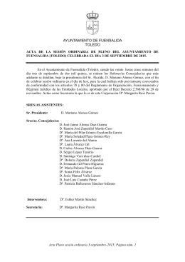 Acta completo - Ayuntamiento Fuensalida